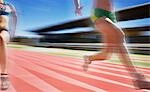 Runners competing on track Stock Photo - Premium Royalty-Freenull, Code: 635-03516318