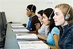 Students learning in computer lab Stock Photo - Premium Royalty-Freenull, Code: 632-03516607