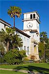 Clock Tower, Santa Barbara County Courthouse, Santa Barbara, California, United States of America, North America Stock Photo - Premium Rights-Managed, Artist: Robert Harding Images, Code: 841-03517888