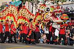 Golden Dragon Parade, Chinese New Year Festival, Chinatown, Los Angeles, California, United States of America, North America Stock Photo - Premium Rights-Managed, Artist: Robert Harding Images, Code: 841-03517939