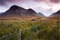 Isolated cottage on the moorland between Rannoch Moor and Glencoe, Highlands, Scotland, United Kingdom, Europe Stock Photo - Premium Rights-Managednull, Code: 841-03518674