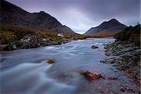 Lagangarbh cottage beside in River Coupall in Glen Coe, Highlands, Scotland, United Kingdom, Europe Stock Photo - Premium Rights-Managednull, Code: 841-03518680