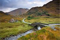 Abandoned cottage near Kinloch Hourn in the Highlands, Scotland, United Kingdom, Europe Stock Photo - Premium Rights-Managednull, Code: 841-03518685