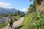 Family riding bicycle in Colico, Lake Como, Italian Lakes, Lombardy, Italy, Europe Stock Photo - Premium Rights-Managed, Artist: Robert Harding Images, Code: 841-03518814