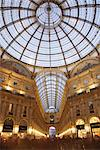 Galleria Vittorio Emanuele at dusk, Milan, Lombardy, Italy, Europe Stock Photo - Premium Rights-Managed, Artist: Robert Harding Images, Code: 841-03518823