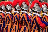Swiss guards parading, Vatican, Rome, Lazio, Italy, Europe Stock Photo - Premium Rights-Managednull, Code: 841-03519038