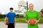 Father and Son on Basketball Court Stock Photo - Premium Rights-Managed, Artist: Peter Griffith, Code: 700-03519164