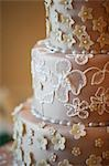 Close-Up of Wedding Cake Stock Photo - Premium Rights-Managed, Artist: Ikonica, Code: 700-03519182