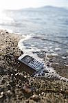 Cell Phone on the Beach Stock Photo - Premium Rights-Managed, Artist: Ron Fehling, Code: 700-03519232