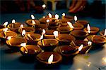 Deepak lights (oil and cotton wick candles) lit for domestic decoration to celebrate the Diwali festival, India Stock Photo - Premium Rights-Managed, Artist: Robert Harding Images, Code: 841-03520039