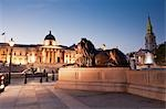 Trafalgar Square at Dusk, London, England Stock Photo - Premium Rights-Managed, Artist: JW, Code: 700-03520416