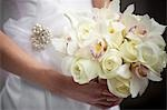 Bride Holding Bouquet Stock Photo - Premium Rights-Managed, Artist: Ikonica, Code: 700-03520451