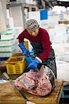 Man Working at Tsukiji Central Wholesale Market, Tokyo, Japan Stock Photo - Premium Rights-Managed, Artist: Ikonica, Code: 700-03520456
