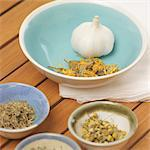 Still Life of Garlic, Herbs and Spices Stock Photo - Premium Rights-Managed, Artist: Natasha Nicholson, Code: 700-03520726