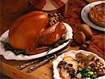 Stuffed Roast Turkey; Sliced Turkey Dinner Plate Stock Photo - Premium Royalty-Free, Artist: Jerzyworks, Code: 659-03520815