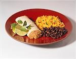 Pork Burrito with Black Beans and Rice Stock Photo - Premium Royalty-Freenull, Code: 659-03521125