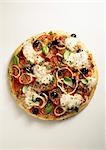 Pizza Margherita Stock Photo - Premium Royalty-Freenull, Code: 659-03521566