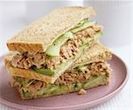 Tuna and cucumber sandwiches in wholemeal bread Stock Photo - Premium Royalty-Free, Artist: Photocuisine, Code: 659-03522313