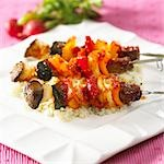 Sweet and sour meat and vegetable kebabs Stock Photo - Premium Royalty-Freenull, Code: 659-03522459