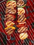 Loin of pork on skewers on a barbecue Stock Photo - Premium Royalty-Freenull, Code: 659-03523469
