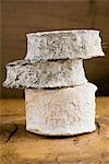 An Explorateur Fleuri & two Seller-sur-Cher cheeses(France) Stock Photo - Premium Royalty-Freenull, Code: 659-03523726
