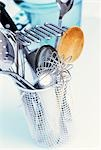 Various kitchen tools in a cutlery drainer Stock Photo - Premium Royalty-Free, Artist: foodanddrinkphotos, Code: 659-03524195