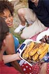 Young people at a 4th of July barbecue (USA) Stock Photo - Premium Royalty-Free, Artist: Kevin Dodge, Code: 659-03524342