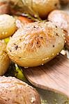 Baked potatoes in roasting tin (close-up) Stock Photo - Premium Royalty-Freenull, Code: 659-03525203
