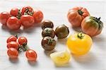 Various types of tomatoes Stock Photo - Premium Royalty-Free, Artist: foodanddrinkphotos, Code: 659-03526225