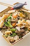 Egg fried rice with pork to take away Stock Photo - Premium Royalty-Freenull, Code: 659-03526580