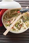 Spicy noodle soup with chicken and soy sauce (Asia) Stock Photo - Premium Royalty-Free, Artist: Blend Images, Code: 659-03527933