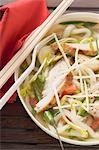 Spicy noodle soup with chicken and vegetables (Asia) Stock Photo - Premium Royalty-Free, Artist: foodanddrinkphotos, Code: 659-03527934