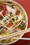 Spicy noodle soup with chicken to take away (Asia) Stock Photo - Premium Royalty-Free, Artist: Blend Images, Code: 659-03527937