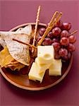 Cubes of cheese with grapes and nibbles Stock Photo - Premium Royalty-Freenull, Code: 659-03528983