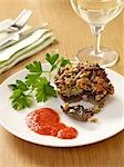 Stuffed mushroom Stock Photo - Premium Royalty-Free, Artist: Westend61, Code: 659-03529974