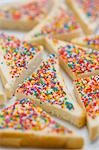 Fairy bread (Bread triangles topped with sprinkles, Australia) Stock Photo - Premium Royalty-Free, Artist: foodanddrinkphotos, Code: 659-03530026