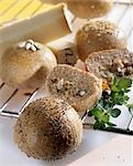 Bread rolls with savoury stuffing Stock Photo - Premium Royalty-Freenull, Code: 659-03530069