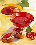 Peach and redcurrant jam Stock Photo - Premium Royalty-Free, Artist: Ikon Images, Code: 659-03530079