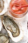 Fresh oysters with tomato sauce (close-up) Stock Photo - Premium Royalty-Freenull, Code: 659-03530401