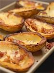 Baked potato skins with bacon (close-up) Stock Photo - Premium Royalty-Freenull, Code: 659-03530494