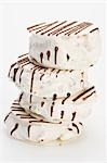 White nougat with chocolate drizzle Stock Photo - Premium Royalty-Free, Artist: Photocuisine, Code: 659-03530638