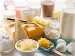 Various dairy products, milkshakes and cheeses Stock Photo - Premium Royalty-Freenull, Code: 659-03530886