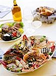 Platter of grilled, fish, shellfish and vegetables Stock Photo - Premium Royalty-Free, Artist: F1Online, Code: 659-03531807