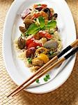 Rice with seafood and vegetables (Asia) Stock Photo - Premium Royalty-Freenull, Code: 659-03531872