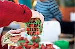 Woman Buying Strawberries at Market Stock Photo - Premium Royalty-Free, Artist: Westend61                , Code: 659-03532181