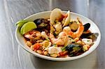 Bowl of Mexican Seafood Stew Stock Photo - Premium Royalty-Free, Artist: foodanddrinkphotos, Code: 659-03532811
