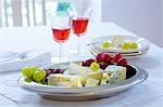 Cheese platter with grapes Stock Photo - Premium Royalty-Freenull, Code: 659-03533709