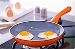 Two fried eggs in a frying pan Stock Photo - Premium Royalty-Free, Artist: Photocuisine, Code: 659-03533744