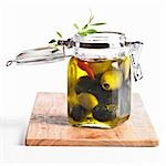 Pickled green and black olives Stock Photo - Premium Royalty-Freenull, Code: 659-03533881