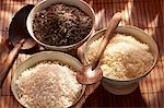 Three different types of rice in bowls Stock Photo - Premium Royalty-Free, Artist: Photocuisine, Code: 659-03533957
